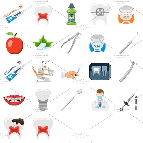 Dental Services Themes in Illustrations - product preview 6
