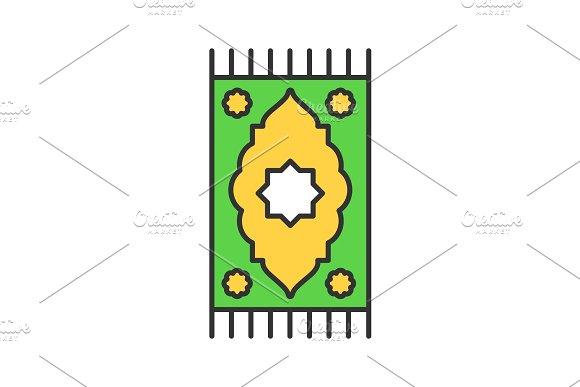 Praying Mat Color Icon