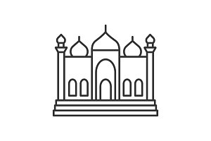 Mosque linear icon