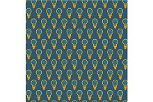 Seamless pattern of bulb with brain