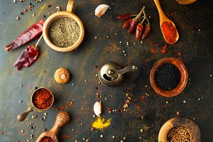 Spices, herbs and  condiments