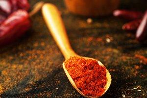 Dry paprika seasoning
