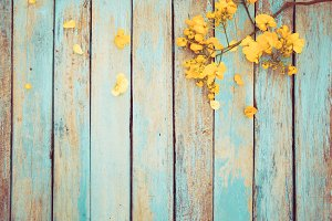 Vintage yellow flower