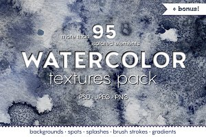WATERCOLOR textures pack!
