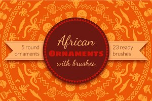 African Tribal Ornaments & Brushes