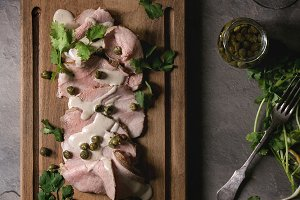 Veal with tuna sauce vitello tonnato