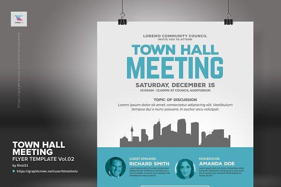 town hall meeting flyer vol 02 flyer templates creative market