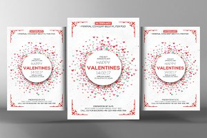 White Valentine Day Flyer