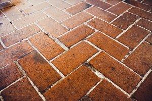 Old Brown Floor Tiles