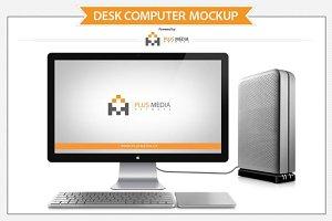Desk Computer Mockup