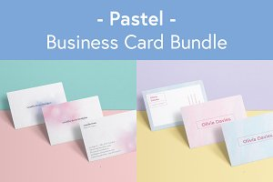 Pastel - business card bundle