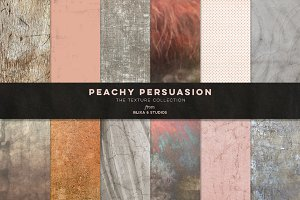 Peachy Persuasion Textured Graphics