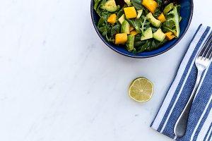 Mango avocado salad bowl