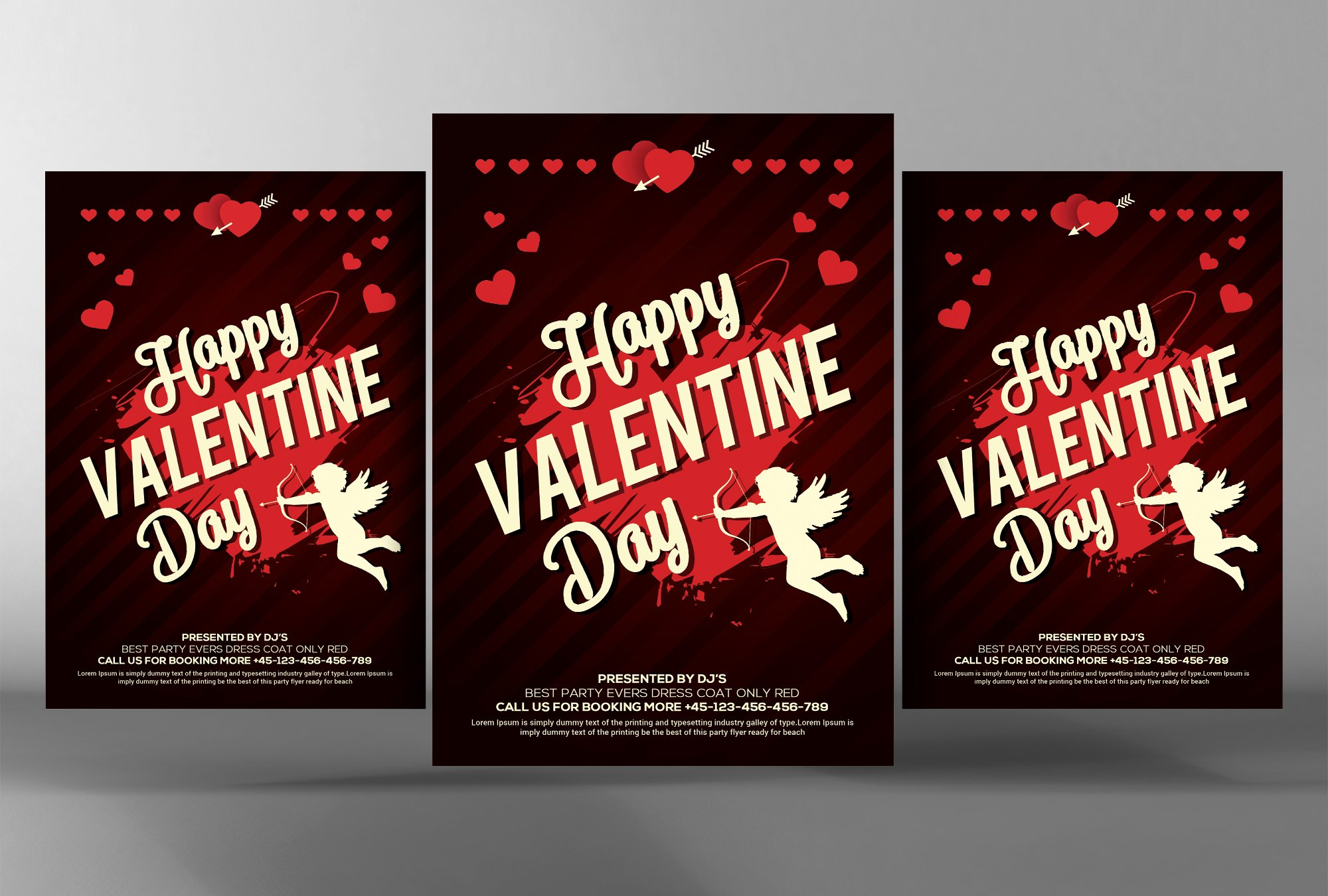 valentines party flyer flyer templates creative market