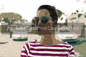 Abstract Distorted Cartoon Effect
