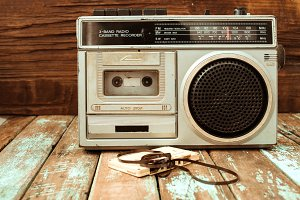 radio and cassette