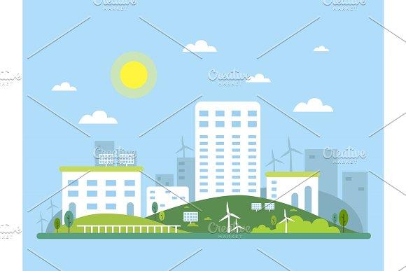 Ecosystem Concept Picture Of Urban Landscape