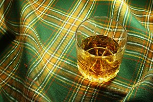 Whisky on tartan