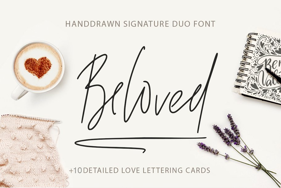 Beloved signature duo font.
