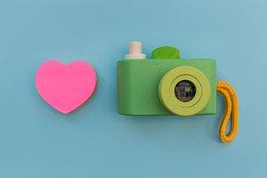 Love photography camera pink heart