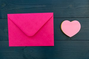 Love letter envelope pink card heart