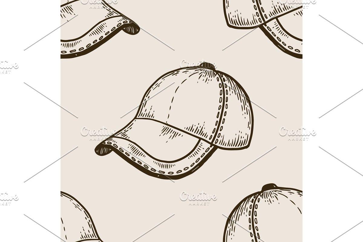 Baseball equipment engraving vector illustration