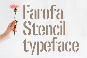 Farofa - stencil typeface