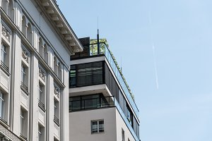 Low angle view of luxury residential building in Vienna
