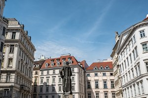 Lessing Denkmal statue in Judenplatz  in Vienna