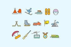 15 Winter Sport Icons