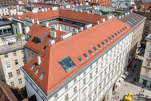 View of Vienna from the roof of Cathedral