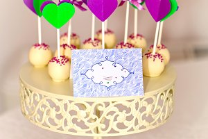 cake-pops with place for text
