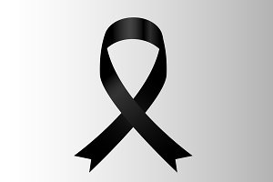vector of black ribbon