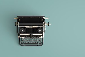 Vintage typewriter header