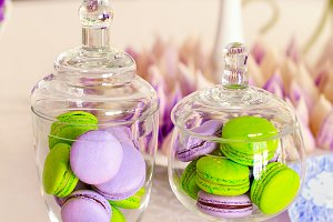 vivid macarons and other sweets