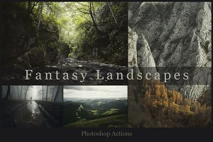 Fantasy landscapes Photoshop actions