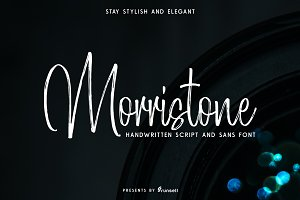 Morristone Script & Sans (OFF 25%)