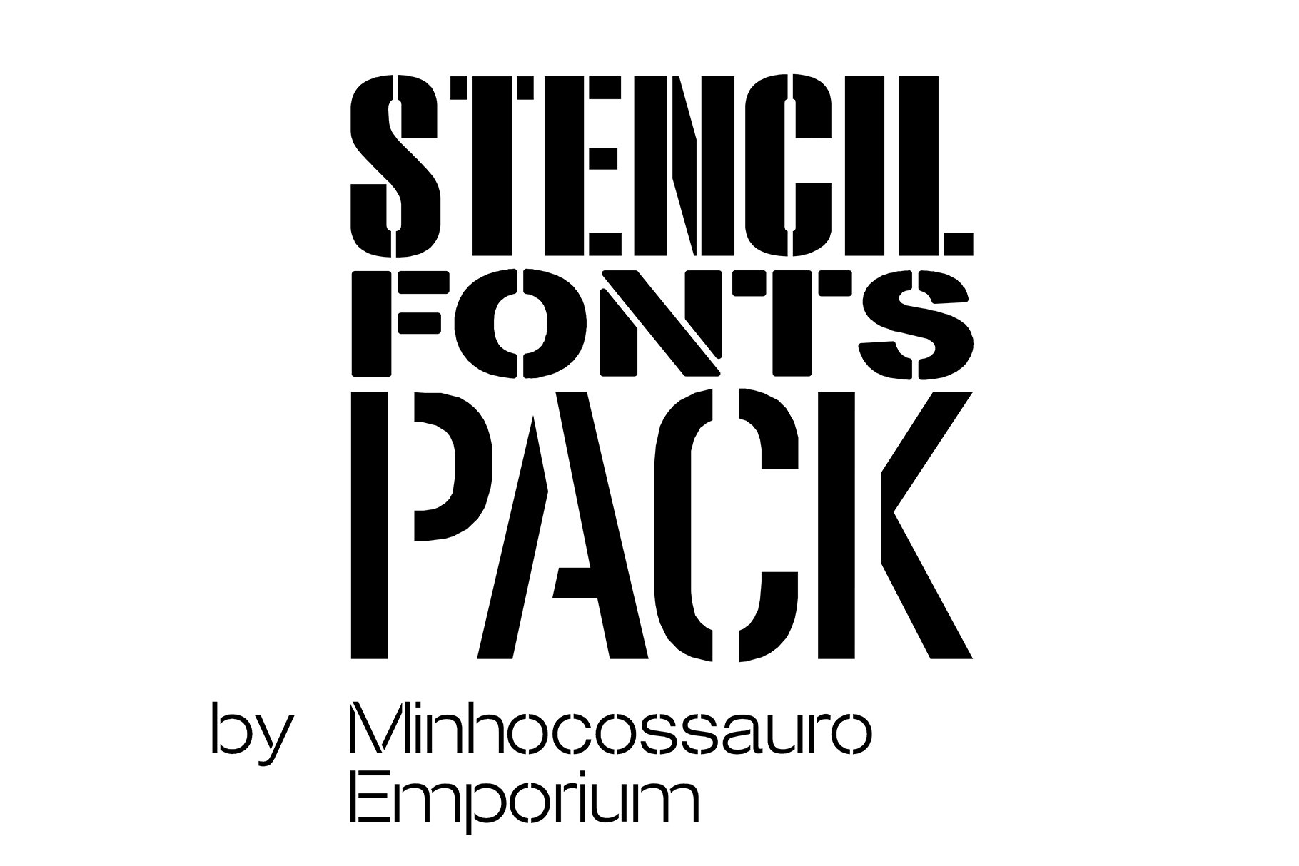 Download Stencil Fonts Pack | Stunning Display Fonts ~ Creative Market