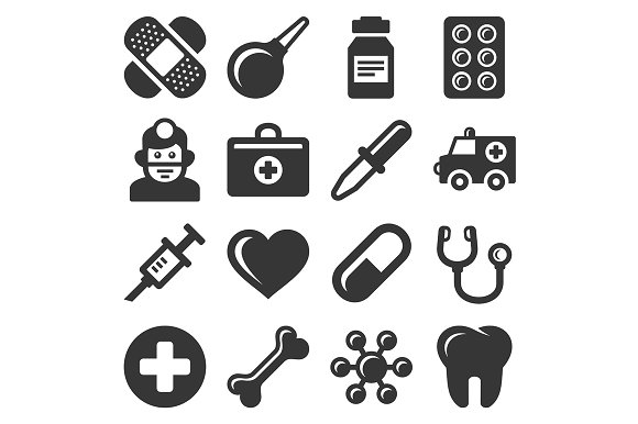 Medical Icons Set in Graphics