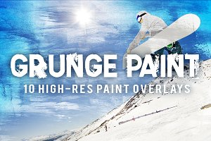 10 Grunge Paint Overlays