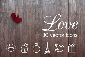 LOVE  - vector line icons