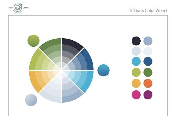Palettes: TriLion Digital Goods - Illustrator Color Palette Wheel