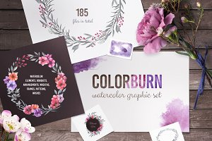 Colorburn - Watercolor Graphic Set