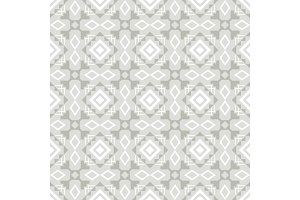 Grey and white ornamental seamless pattern