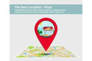 Best pizza point on map