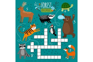 Printable animal crossword