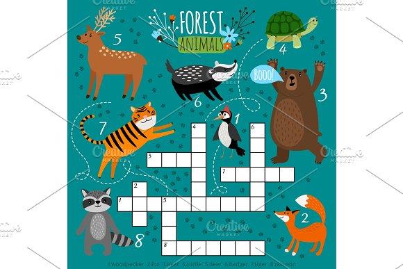 Printable animal crossword