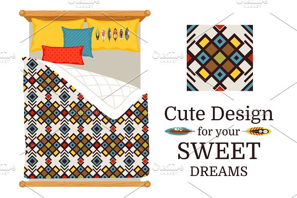 Sweet Dreams Bed Sheets Geometric Pattern