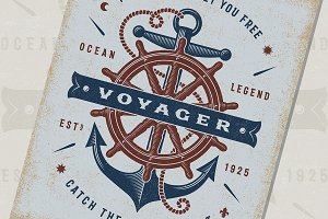 Nautical Voyager Typography