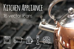 KITCHEN APPLIANCE - vector line icon